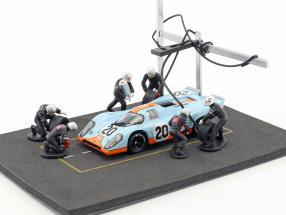 pitstop mechanic set with 6 figures 1:43 Altaya