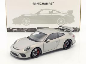 Porsche 911 (991 II) GT3 year 2017 silver 1:18 Minichamps
