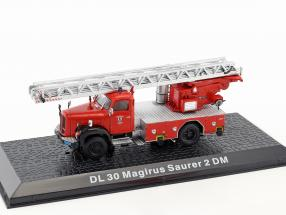 Magirus Saurer 2 DM DL 30 fire Department year 1971 red 1:72 Altaya
