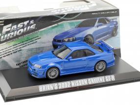 Brian's Nissan Skyline GT-R Fast & Furious 4 2009 blau 1:43 Greenlight