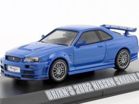 Brian's Nissan Skyline GT-R Fast & Furious 4 2009 blue 1:43 Greenlight