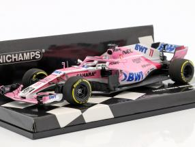 Sergio Perez Force India VJM11 #11 Chinese GP formula 1 2018 1:43 Minichamps