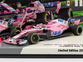 S. Perez #11 & E. Ocon #31 2-Car Set Force India VJM11 Formel 1 2018 1:43 Minichamps