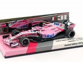 Esteban Ocon Force India VJM11 #31 Bahrain GP Formel 1 2018 1:43 Minichamps