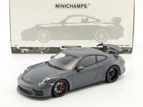 Porsche 911 (991 II) GT3 Baujahr 2017 graphit blau metallic 1:18 Minichamps