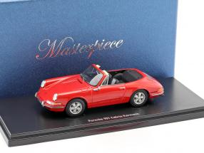 Porsche 901 Cabriolet Karmann red 1:43 AutoCult