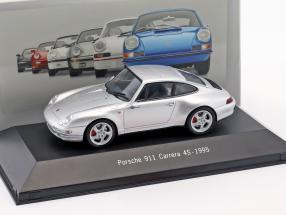Porsche 911 (993) Carrera 4S Baujahr 1995 silber metallic 1:43 Atlas