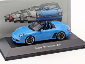 Porsche 911 (997) Speedster Baujahr 2010 blau 1:43 Atlas
