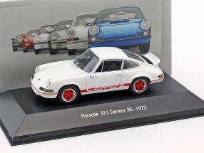 Porsche 911 Carrera RS Baujahr 1973 weiß 1:43 Atlas
