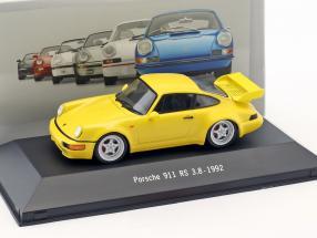 Porsche 911 (964) RS 3.8 Baujahr 1992 gelb 1:43 Atlas