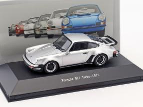Porsche 911 (930) Turbo Baujahr 1975 silber 1:43 Atlas