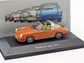 Porsche 911 Targa Baujahr 1973 orange 1:43 Atlas