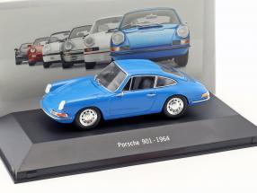 Porsche 901 Baujahr 1964 blau 1:43 Atlas