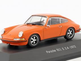 Porsche 911 S 2.4 Baujahr 1972 orange 1:43 Atlas