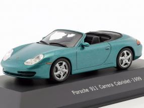 Porsche 911 (996) Carrera Cabriolet Baujahr 1999 grün metallic 1:43 Atlas