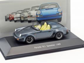 Porsche 911 Speedster Baujahr 1989 blau metallic 1:43 Atlas