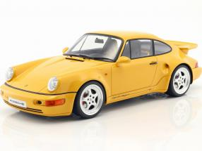 Porsche 911 (964) Turbo S lightweight speed yellow 1:12 CMR