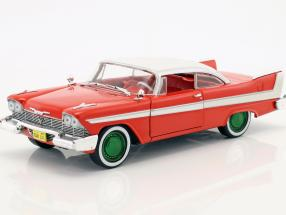 Plymouth Fury year 1958 Movie Christine (1983) red / White / silver / green 1:24 Greenlight