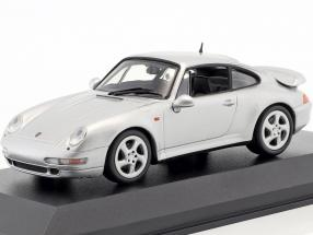 Porsche 911 (993) Turbo year 1997 silver metallic 1:43 Minichamps