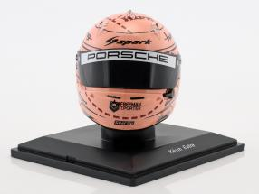 Kevin Estre Porsche 911 (991) GT3 RSR Winner GTE-Pro 24h LeMans 2018 helmet Pink Pig 1:5 Spark