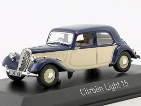Citroen Light 15 Baujahr 1949 dunkelblau / creme weiß 1:43 Norev