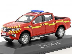 Renault Alaskan Pick-Up Pompiers Baujahr 2017 rot / gelb 1:43 Norev