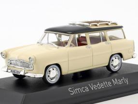 Simca Vedette Marly Baujahr 1957 paille gelb / schwarz 1:43 Norev