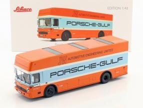 Mercedes-Benz O 317 Porsche Gulf Race Truck year 1968 1:43 Schuco