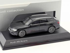 Audi A6 Avant C8 year 2018 vesuv gray 1:43 iScale