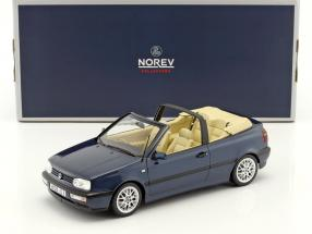 Volkswagen VW Golf 3 Cabriolet year 1995 dark blue metallic 1:18 Norev