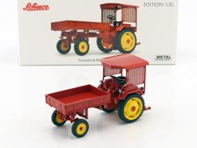 Fortschritt RS09-GT 124 Traktor mit Pritsche rot 1:32 Schuco