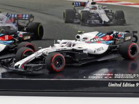 Stroll #18 & Sirotkin #35 2-Car Set Williams FW41 formula 1 2018 1:43 Minichamps
