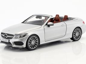 Mercedes-Benz C-Klasse Convertible (A205) iridium silver 1:18 iScale