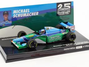 Michael Schumacher Benetton B194 #5 Winner Monaco GP Formel 1 1994 1:43 Minichamps