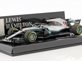 Lewis Hamilton Mercedes-AMG F1 W09 EQ Power+ #44 World Champion Formel 1 2018 1:43 Minichamps
