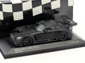 Mercedes-Benz AMG GT3 Plain Body Version Baujahr 2017 matt schwarz 1:43 Minichamps
