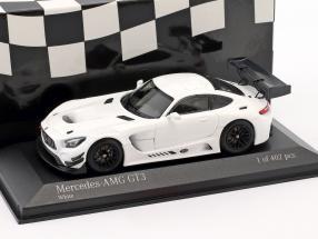 Mercedes-Benz AMG GT3 Plain Body Version year 2017 White 1:43 Minichamps