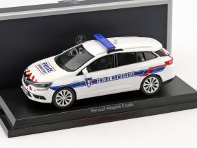 Renault Megane Estate Police Municipale Baujahr 2016 weiß 1:43 Norev
