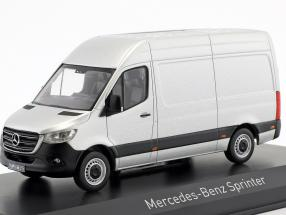 Mercedes-Benz Sprinter van year 2018 silver 1:43 Norev