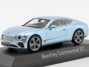Bentley Continental GT year 2018 silver blue metallic 1:43 Norev
