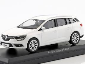 Renault Megane Estate year 2016 glacier white 1:43 Norev