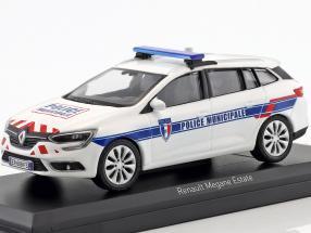 Renault Megane Estate Police Municipale  year 2016 white 1:43 Norev