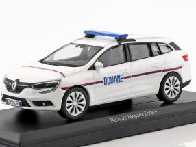 Renault Megane Estate Douane year 2016 White 1:43 Norev