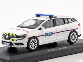 Renault Megane Estate Douane Baujahr 2016 weiß / blau / gelb 1:43 Norev