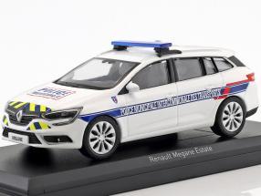 Renault Megane Estate Police Municipale Intercommunale Construction year 2016 White 1:43 Norev