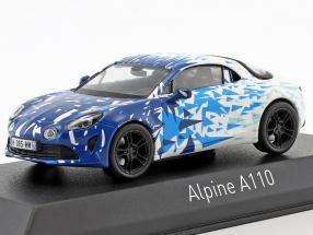 Renault Alpine A110 Baujahr 2017 Test Version blau / weiß 1:43 Norev