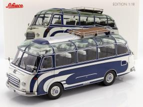 Setra S6 Bus year 1956 blue / white 1:18 Schuco