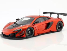 McLaren 650S GT3 year 2017 volcano orange / black 1:18 AUTOart
