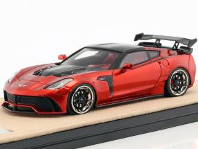 Chevrolet Corvette Widebody DarwinPro Black Sails year 2016 red metallic 1:43 GLM