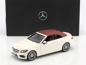 Mercedes-Benz C-Class Cabriolet (A205) diamond white 1:18 iScale